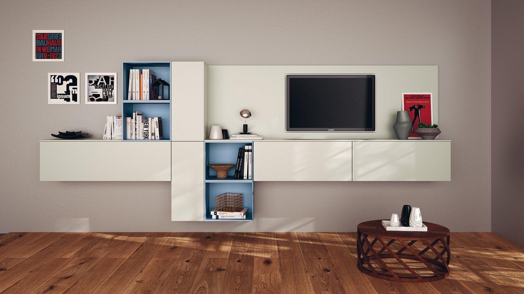 TV unit with matt finish