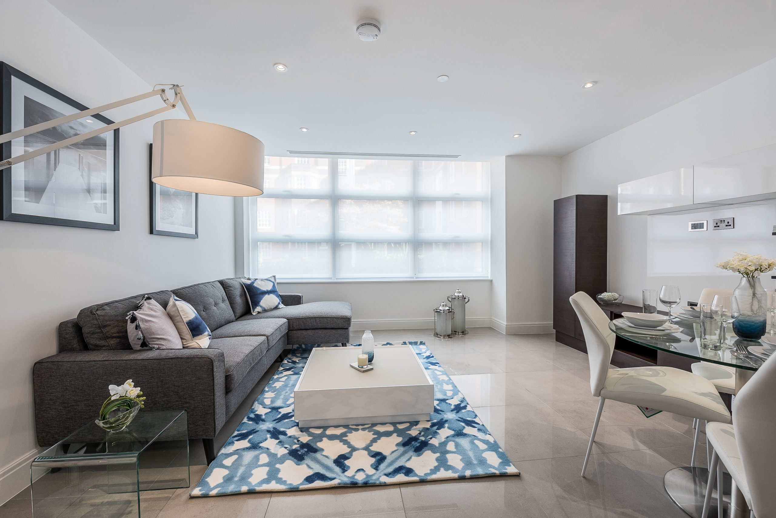 Modern Living Room with Built-in Wardrobe for a Small Bedroom Chorleywood