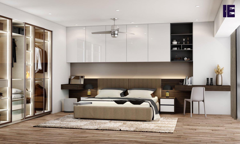 Sliding Wardrobe With Bedroom Bed Bridging Unit