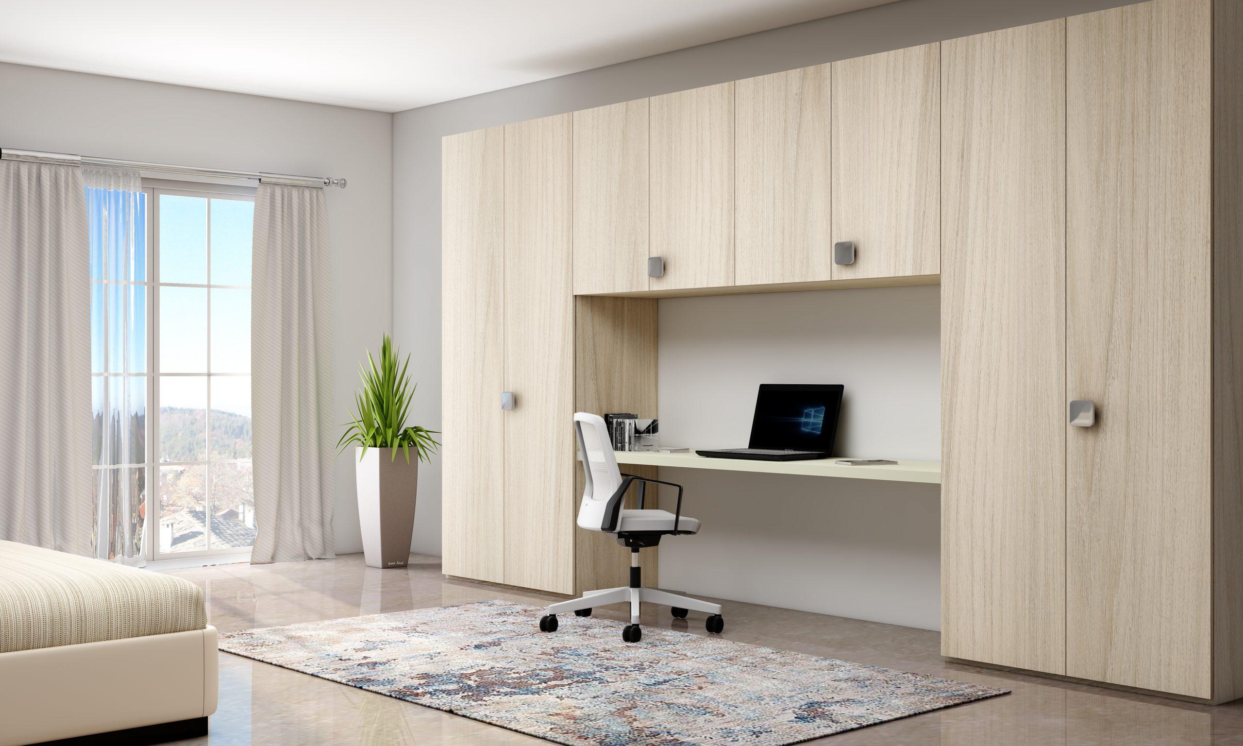 hinge wardrobes with study desk