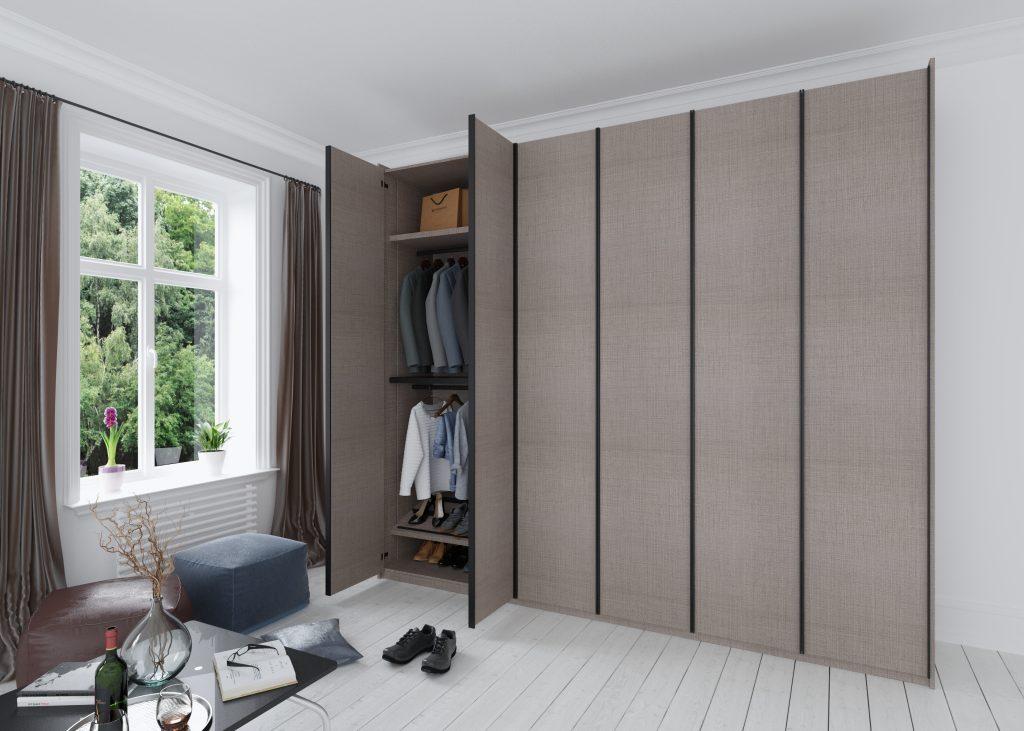 Linear wood range fitted wardrobe