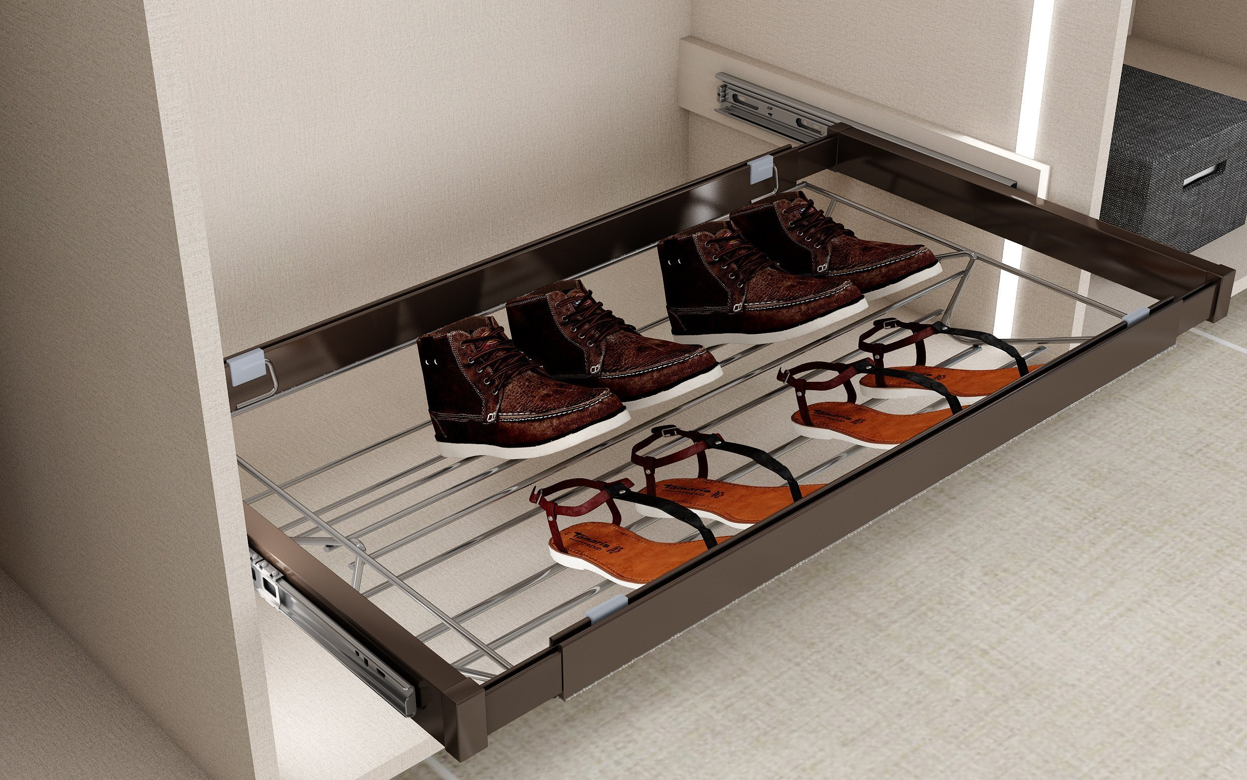 Metal Shoe Rack by Inspired Elements