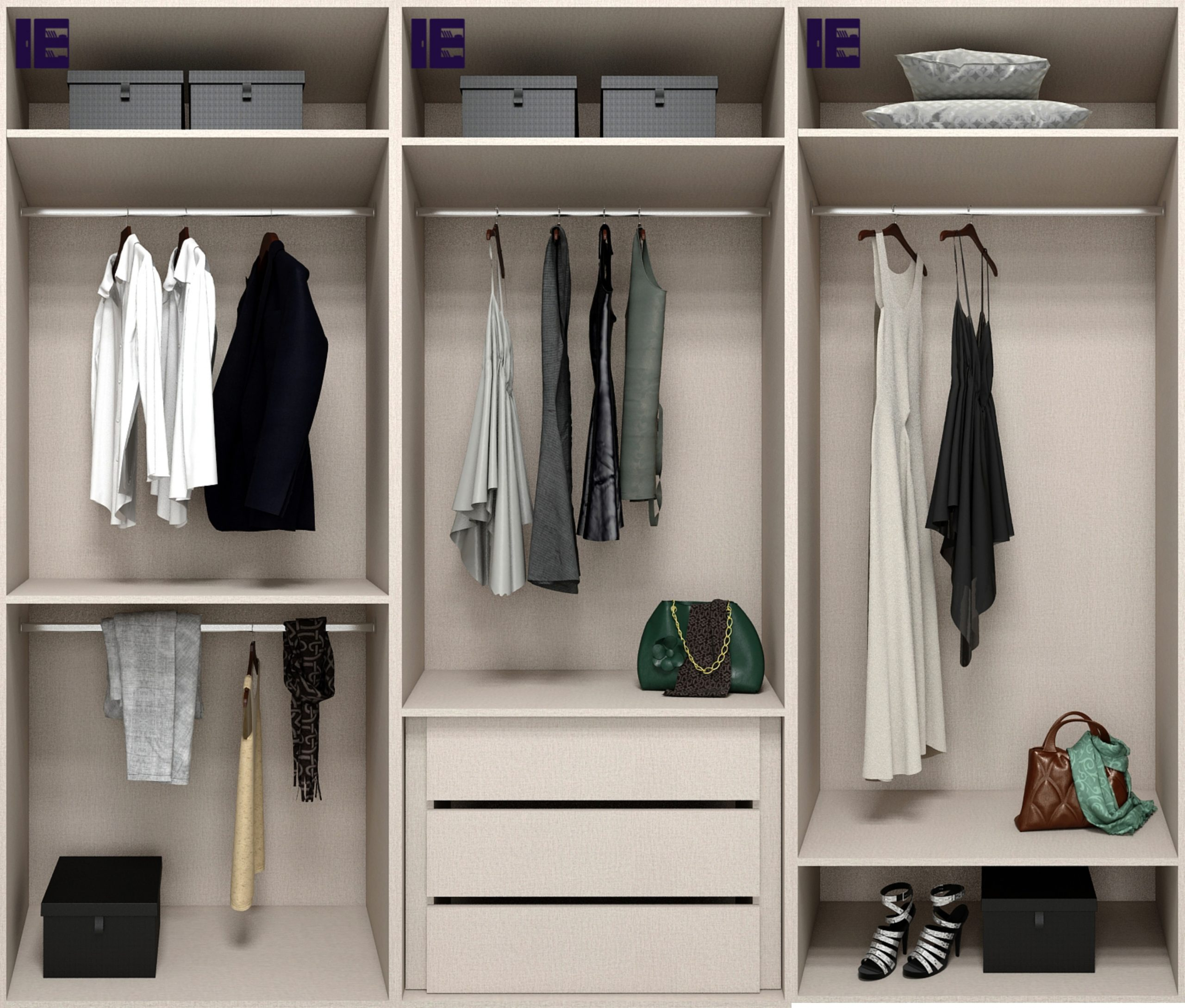 Internal Wardrobe Storage 3m