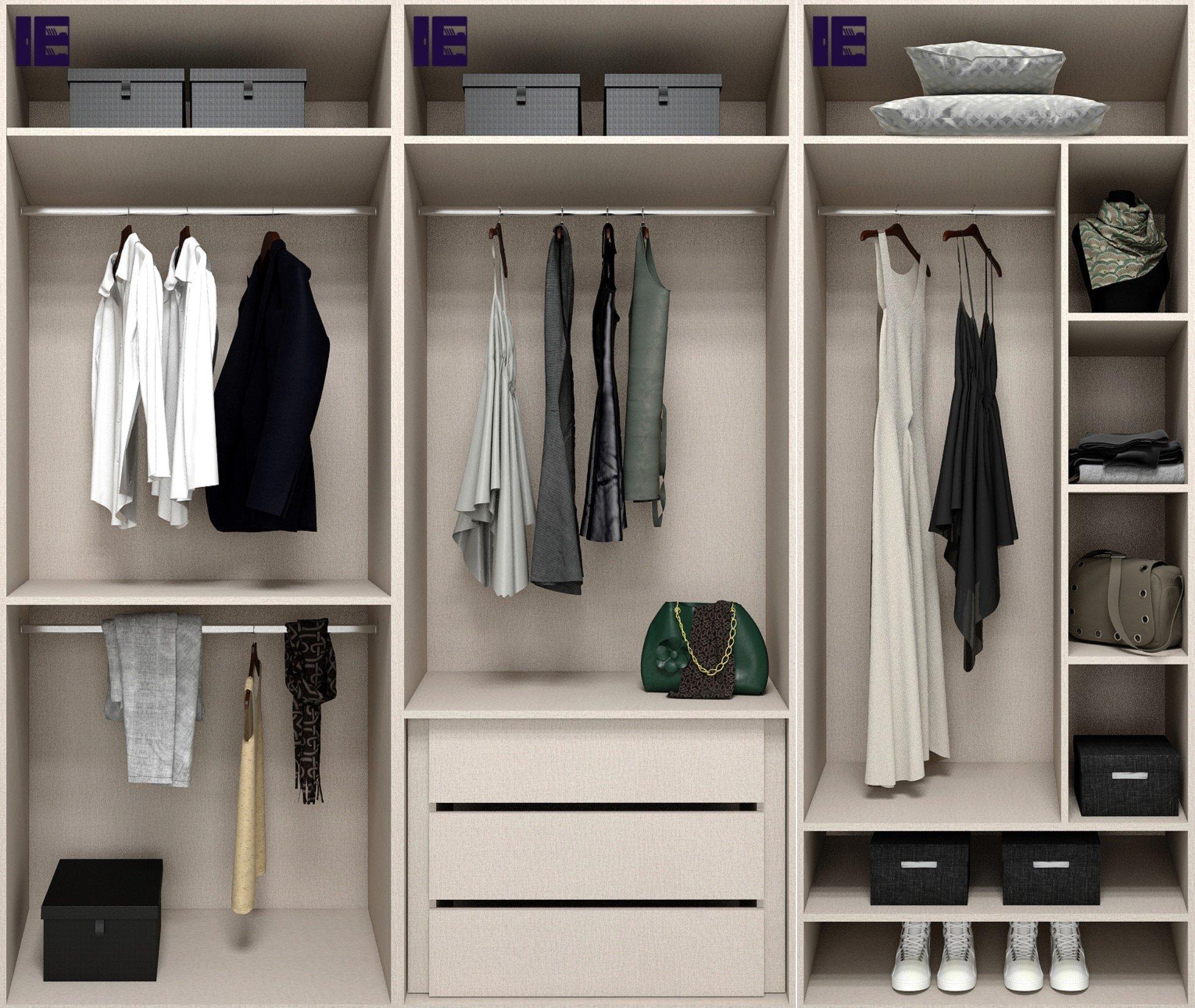 Internal Wardrobe Storage 3m with Accessories
