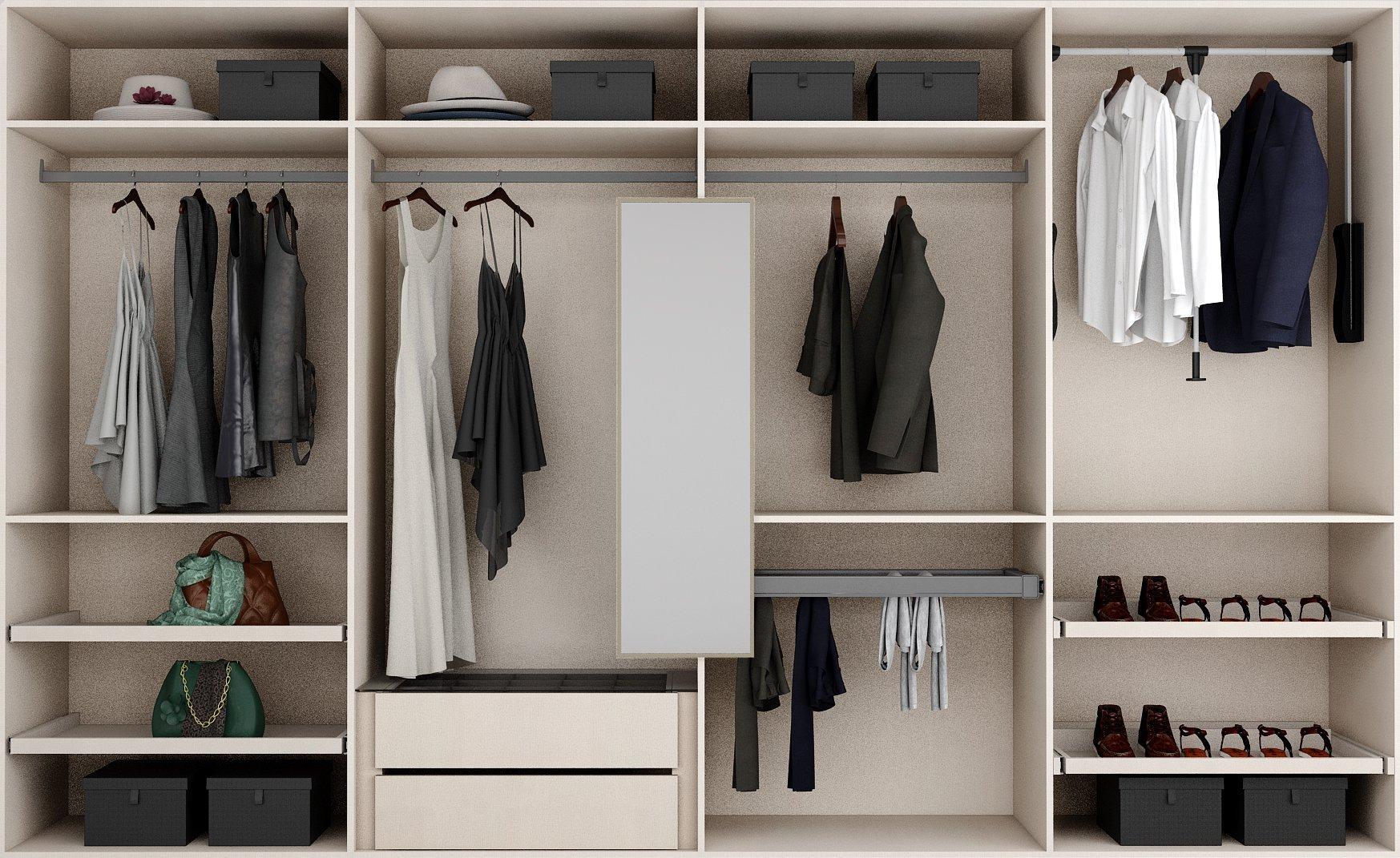 Wardrobe accessories options