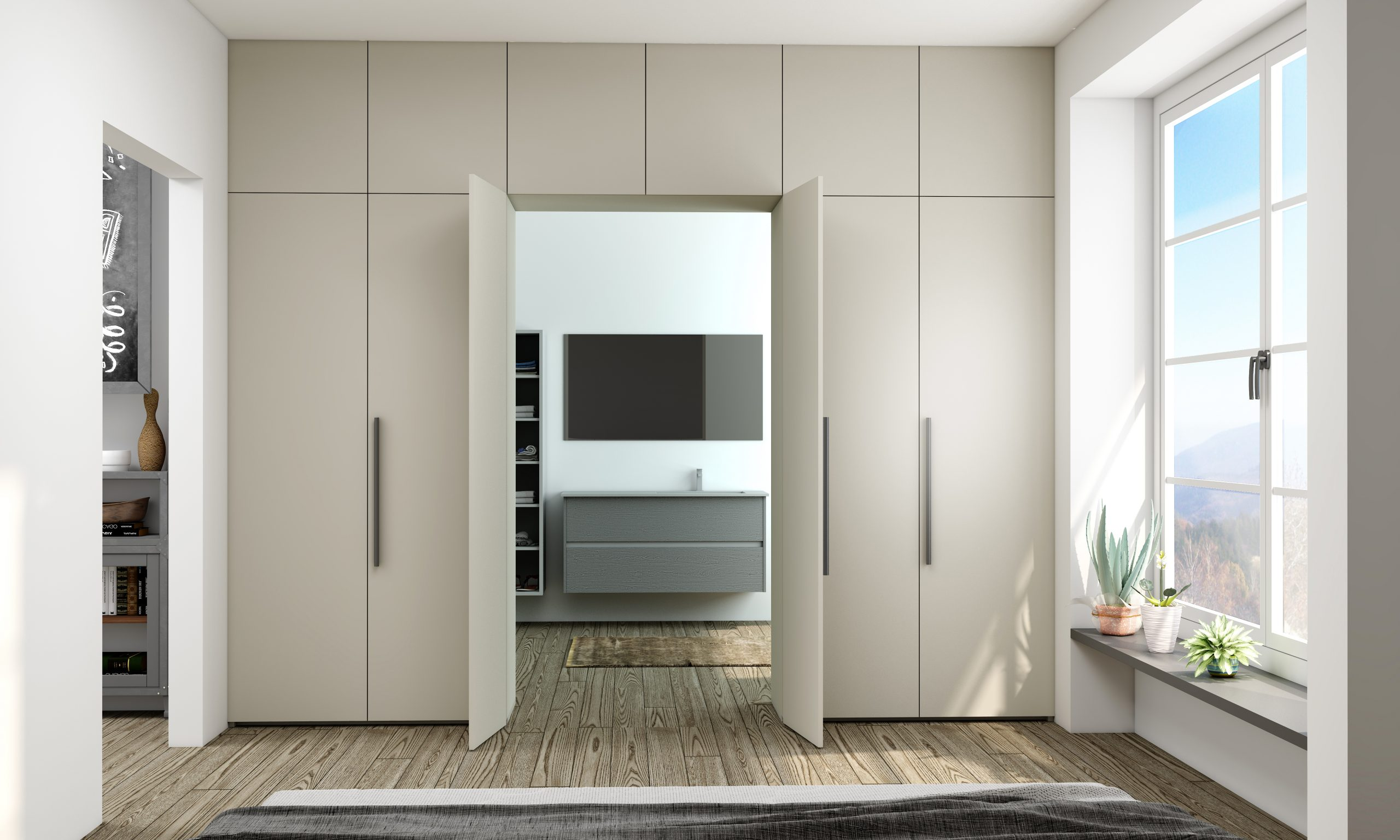 Awkward Space Solution Hinge Alcoves Wardrobe With Access Doors