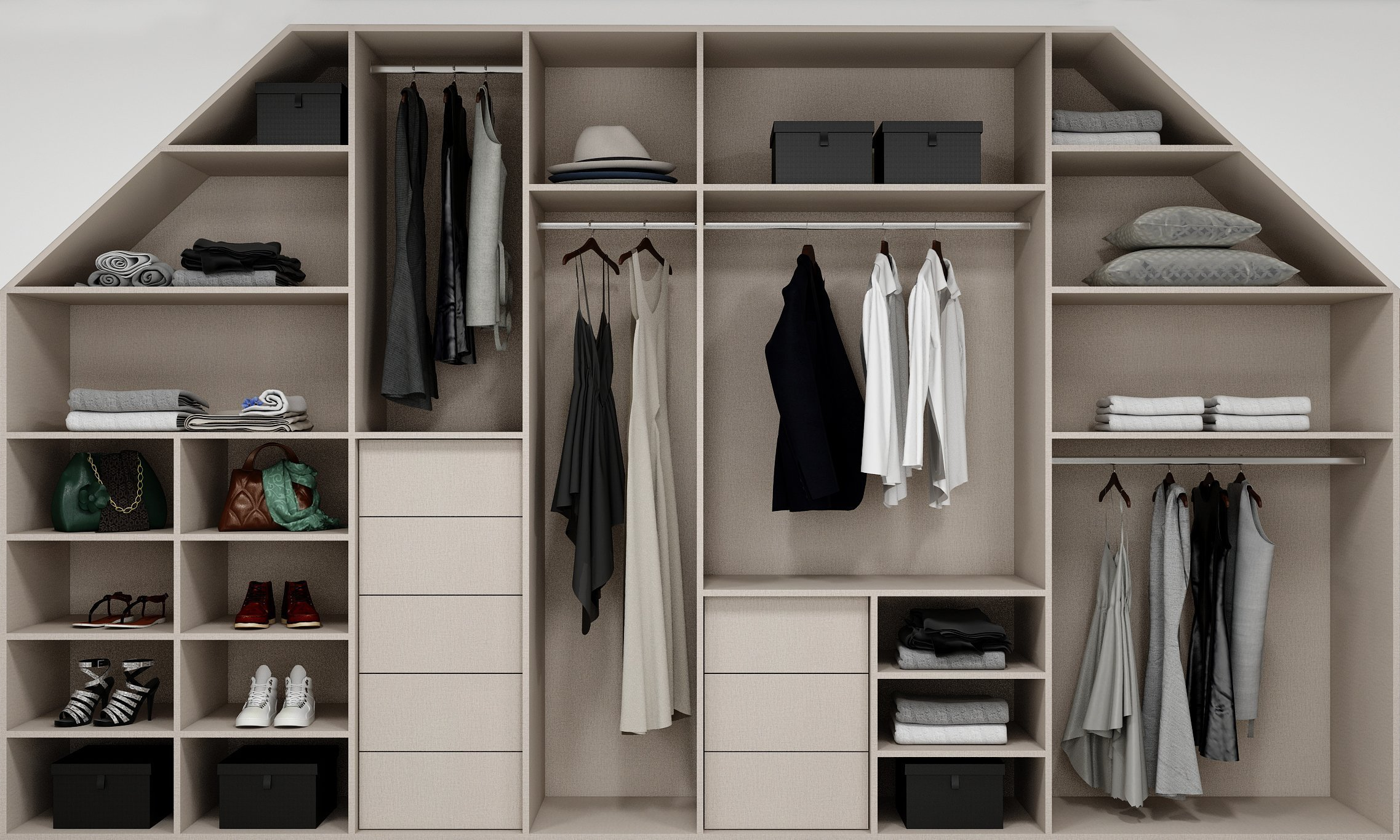 Loft Wardrobe Internal Storage