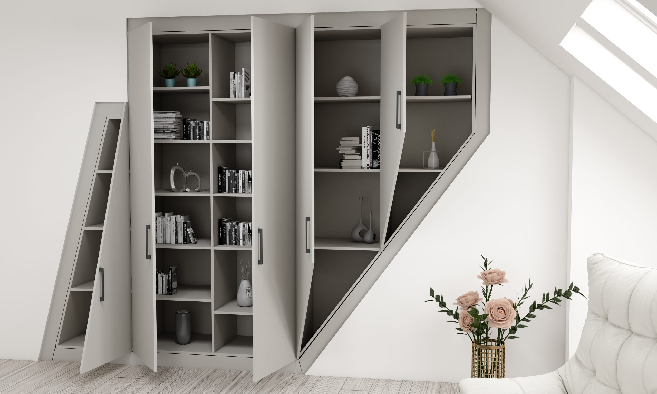 Fitted Alcoves in Pearl Grey