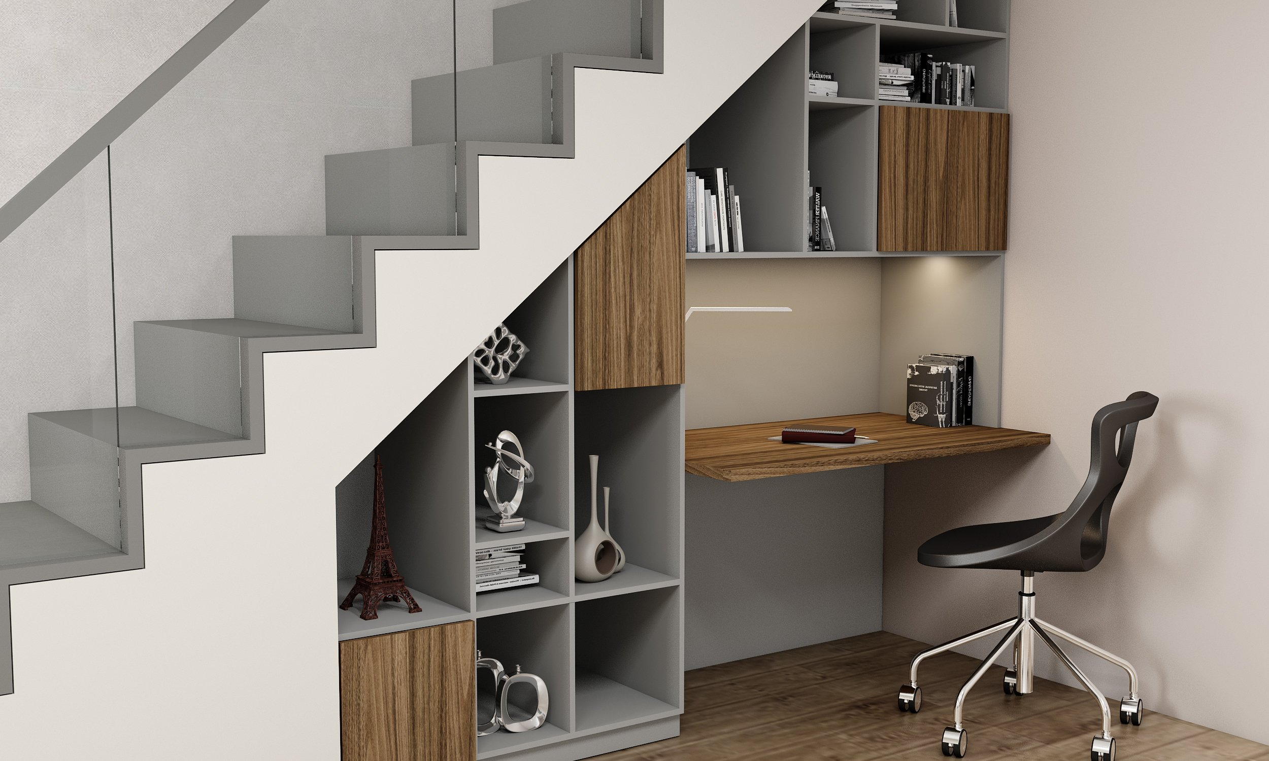 Under Stairs Office Solution
