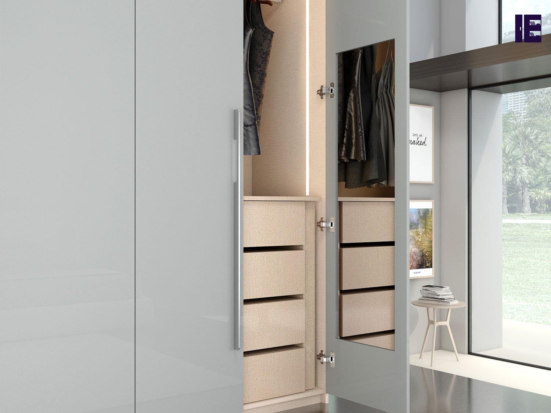 Wardrobe Accessories with Door in Side Mirror