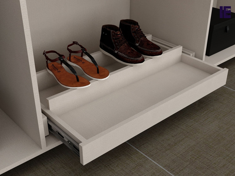 Wooden Shoe Rack Wardrobe Accessories