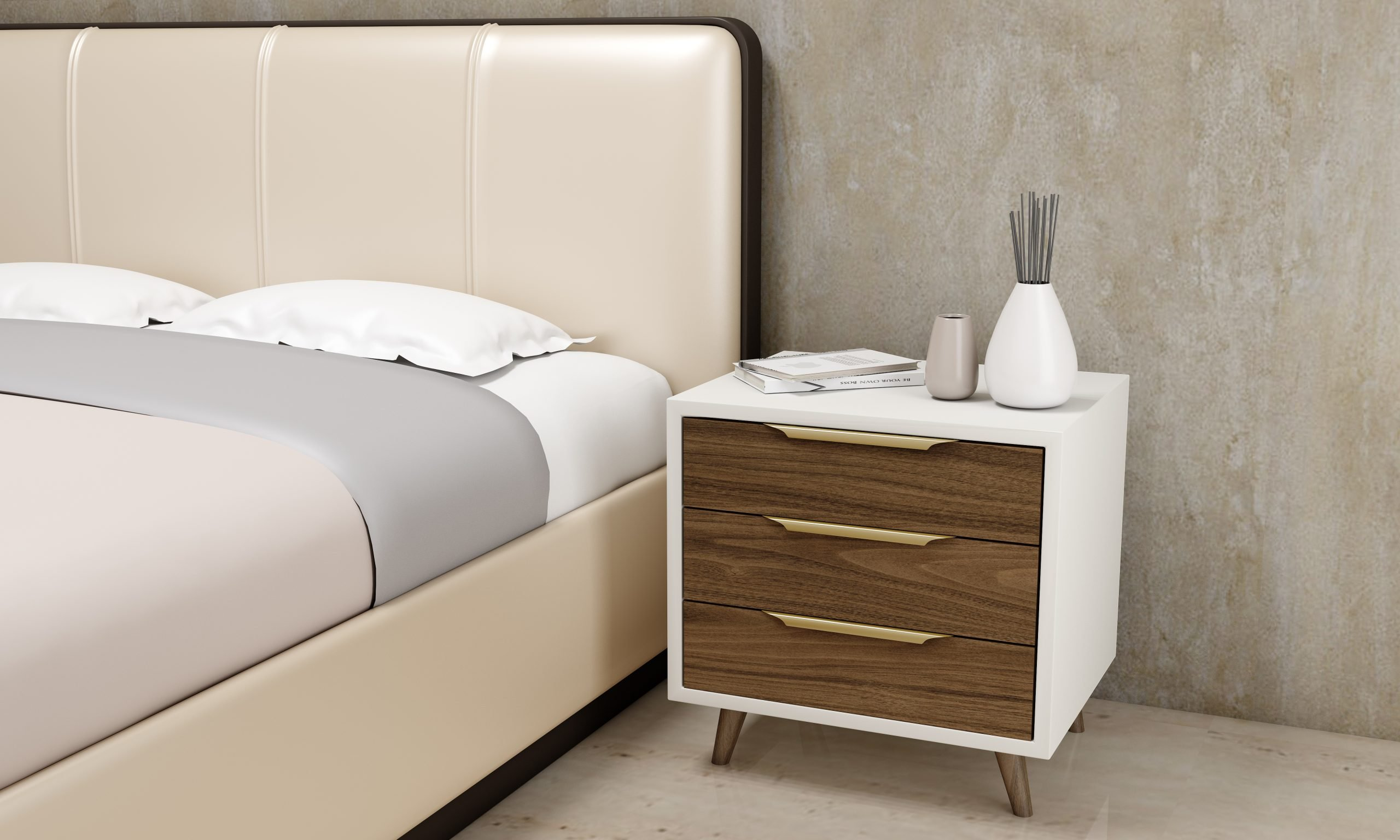 Made to measure bedside cabinets.